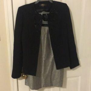 Tahari embellished suit set